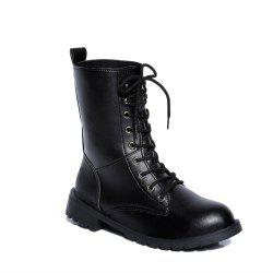 Thick With Round Head Size Couple Martin Boots -