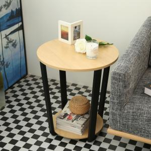 Wooden Desktop Round Table Living Room Side Table Coffee Table -