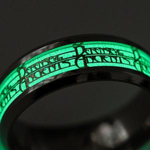 Animation Game Around The Souvenir Signs Luminous Men 's Personality Ring -