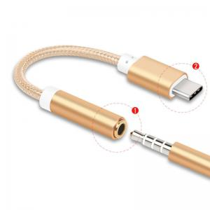 Type-C to 3.5 Earphone Adapter Type-C USB-C male to 3.5mm AUX audio female AUX Cable -
