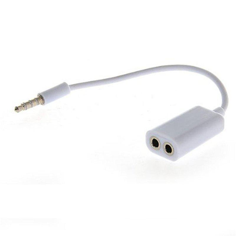 Fancy Hot Headset Jack Earphone Splitter extension 3.5mm Dual Audio Line One In Two Couples Lovers Adapter