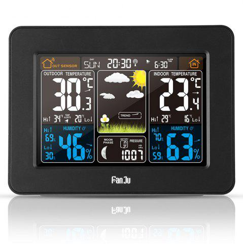Online FJ3365 Digital Color Forecast Weather Station with Alert and Temperature/Humidity/Barometer/Alarm/Moon phase/Atomic Clock with Outdoor Sensor