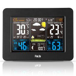 FJ3365 Digital Color Forecast Weather Station with Alert and Temperature/Humidity/Barometer/Alarm/Moon phase/Atomic Clock with Outdoor Sensor -