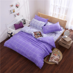 Aloe Vera Cotton Crown Two Colors Grid Three-Piece Bedding Sets -