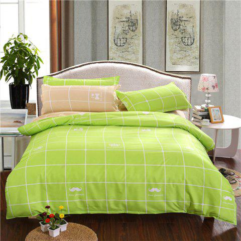 Outfits Aloe Vera Cotton Crown Two Colors Grid Three-Piece Bedding Sets