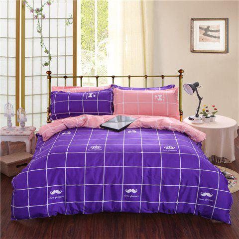 Sale Aloe Vera Cotton Crown Two Colors Grid Three-Piece Bedding Sets