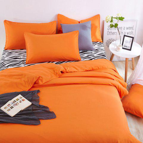 Hot Aloe Vera Cotton Zebra Sheet and Pure Color Quilt for Children'S Three-Piece Bedding Sets