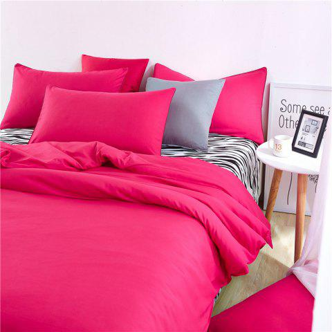 Discount Aloe Vera Cotton Zebra Sheet and Pure Color Quilt for Children'S Three-Piece Bedding Sets