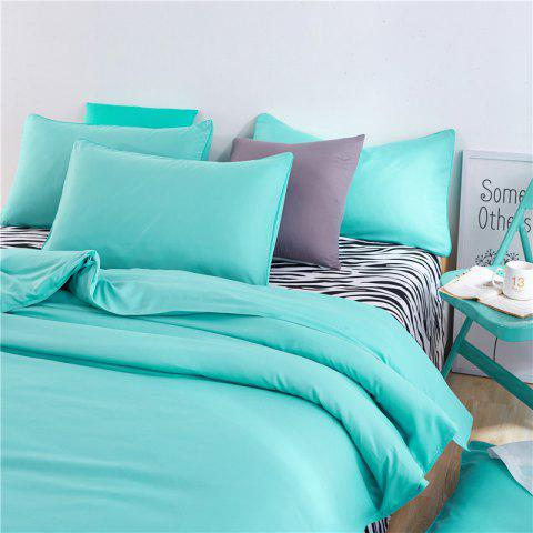 New Aloe Vera Cotton Zebra Sheet and Pure Color Quilt for Children'S Three-Piece Bedding Sets