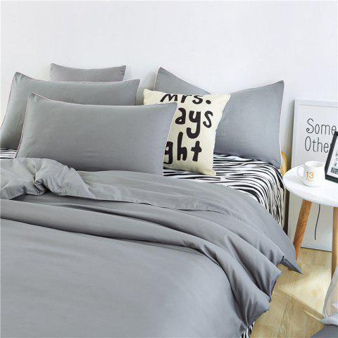 Outfits Aloe Vera Cotton Zebra Sheet and Pure Color Quilt for Children'S Three-Piece Bedding Sets