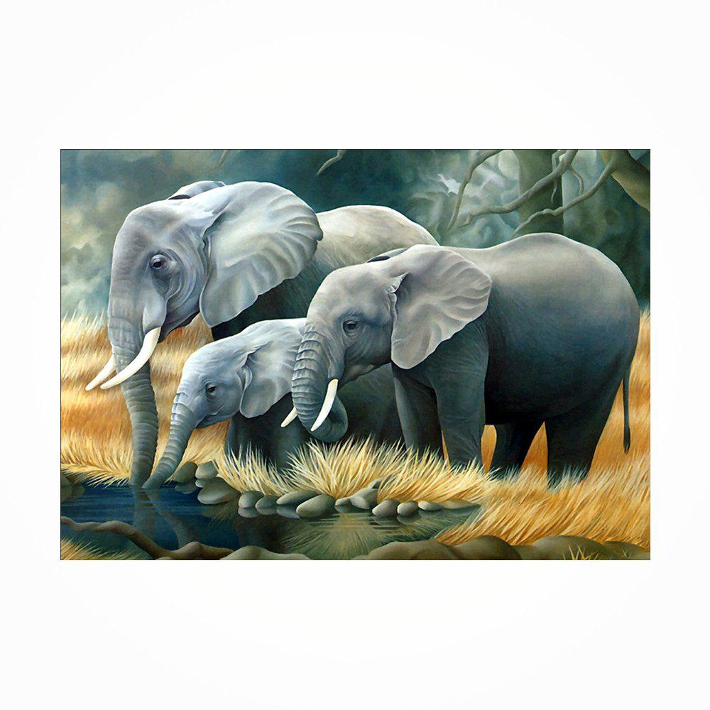 Buy Naiyue J542 Elephants Print Draw Diamond Drawing