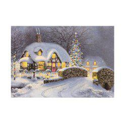 Naiyue 7133 The Night Is Snow Print Draw Diamond Drawing -