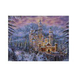 Naiyue 7134 Snow Area Castle Print Draw Diamond Drawing -