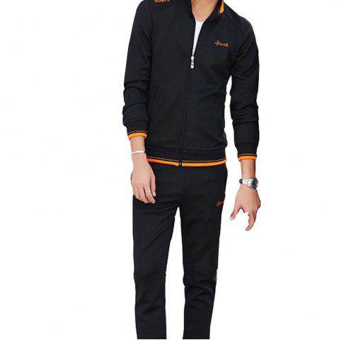 Buy 2017 Men's Leisure Fashion Embroidery Suit
