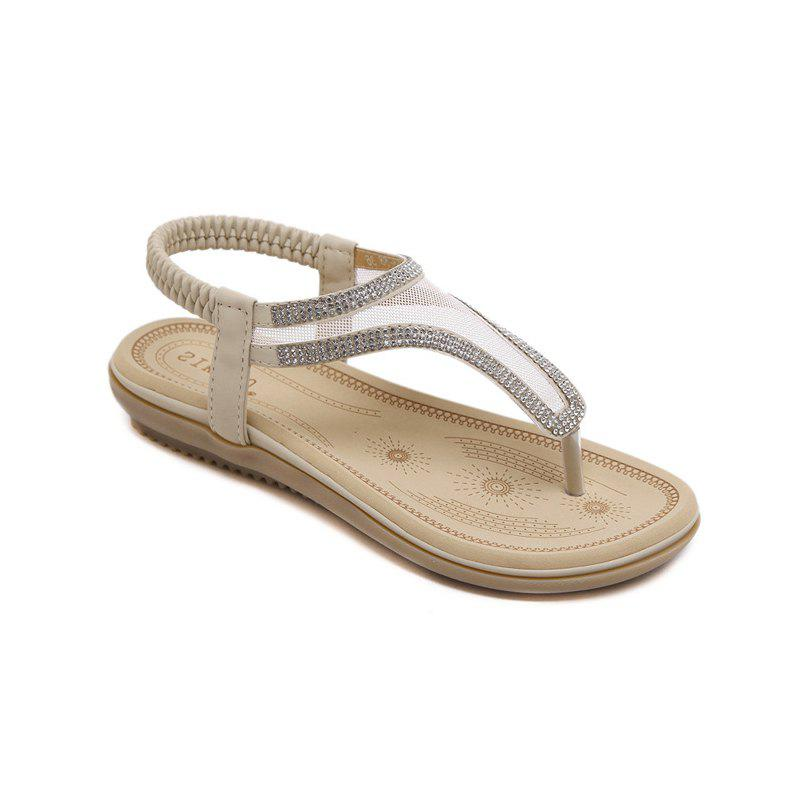 Affordable Ladies Rubber Sole Water Drill Net Clip for Sandals