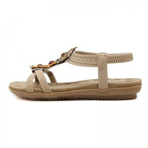 Ladies Rubber Sole National Wind Foreign Trade Large - Size Strappy Sandals -
