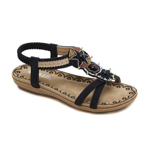 Latest Ladies Rubber Sole National Wind Foreign Trade Large - Size Strappy Sandals