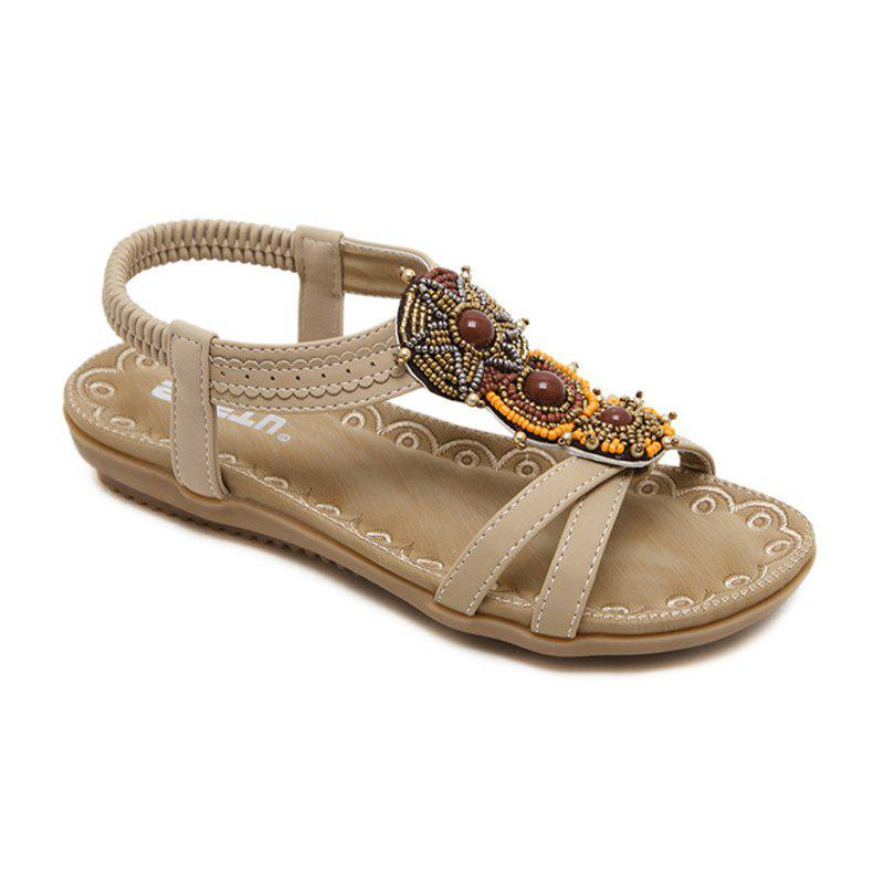 Chic Ladies Rubber Sole National Wind Foreign Trade Large - Size Strappy Sandals