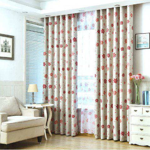 Outfits Shade Cloth Curtains With Multicolored Flowers