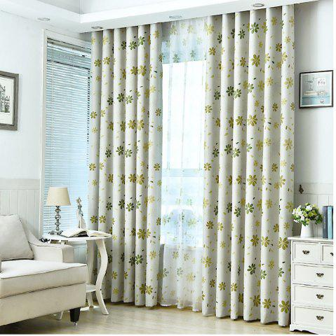 Discount Shade Cloth Curtains With Multicolored Flowers