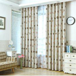 Shade Cloth Curtains With Multicolored Flowers -