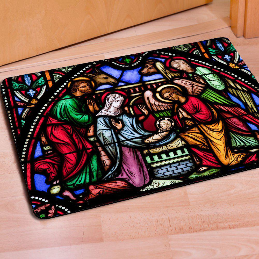 Fancy Doormat Anti Slip Entry Way Floor Carpets for Bathroom Bedroom Kitchen Living Room Water-absorbing Tapetes