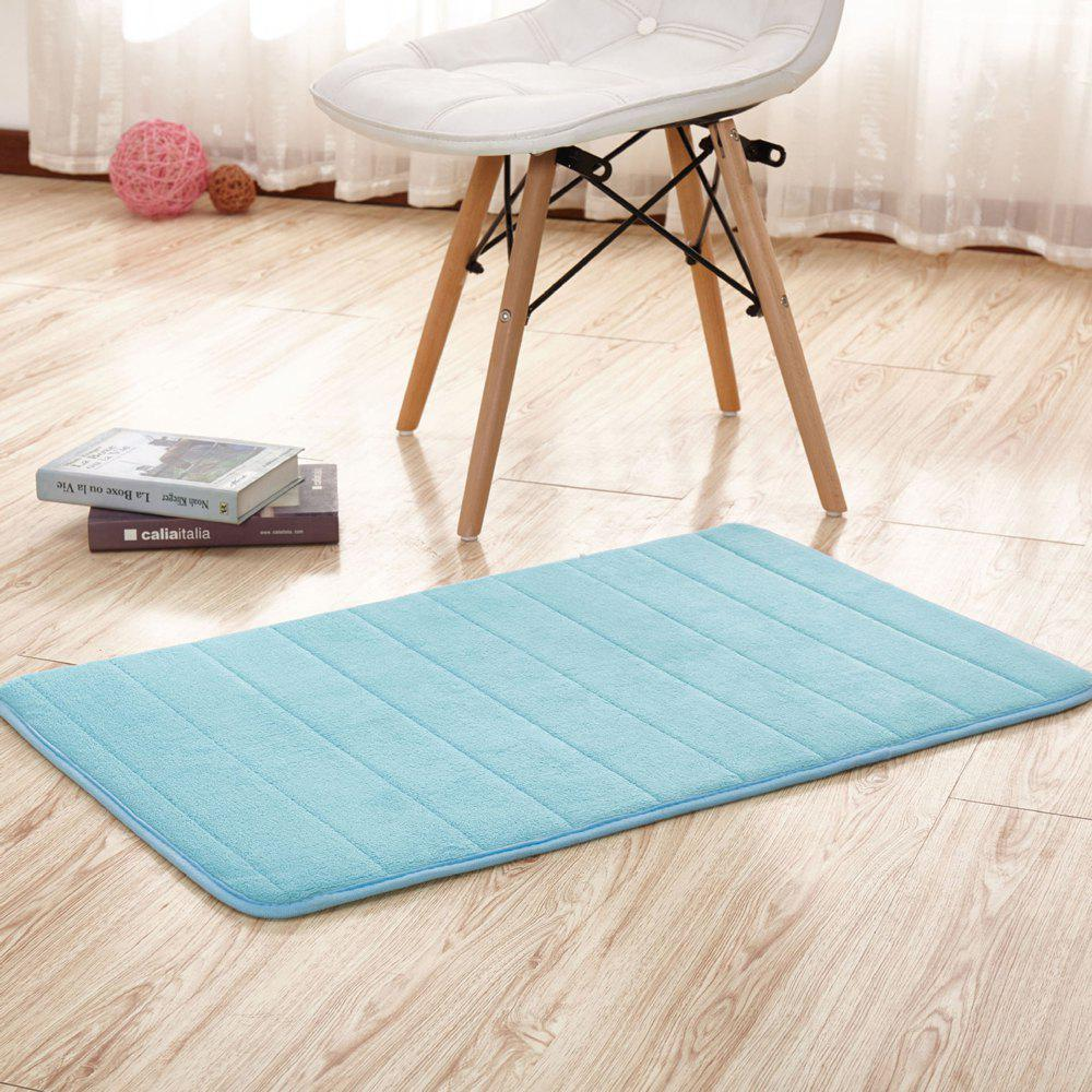 Unique Doormat Solid Thick Antiskidding Coral Fleece Cosy Bathroom Mat