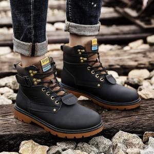 SX69 Casual Leather Shoes and Velvet Martin Boots -