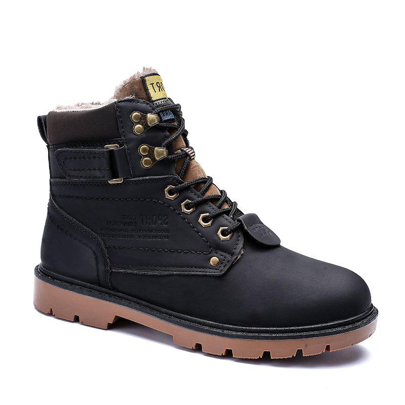 Trendy SX69 Casual Leather Shoes and Velvet Martin Boots