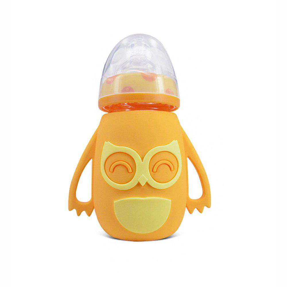 New Owl Case Wide-caliber automatic glass bottle MY0135-yellow