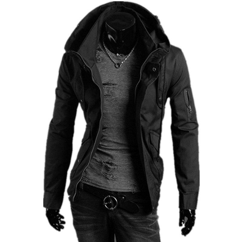 Cheap Hooded Camouflage Zipper Men'S Jacket