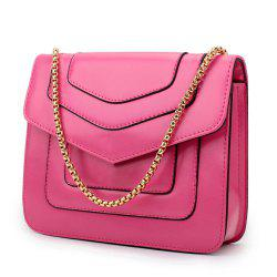 New Splicing Chain Women's Single Shoulder Slanted Slanted Crossbody Bag -