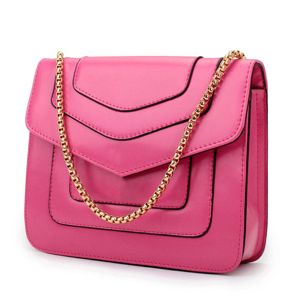 Outfit New Splicing Chain Women's Single Shoulder Slanted Slanted Crossbody Bag