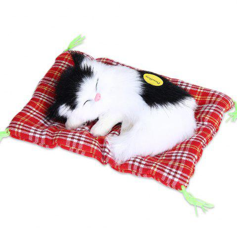 Store Stuffed Lovely Simulation Animal Doll Plush Sleeping Cats Toy with Sound
