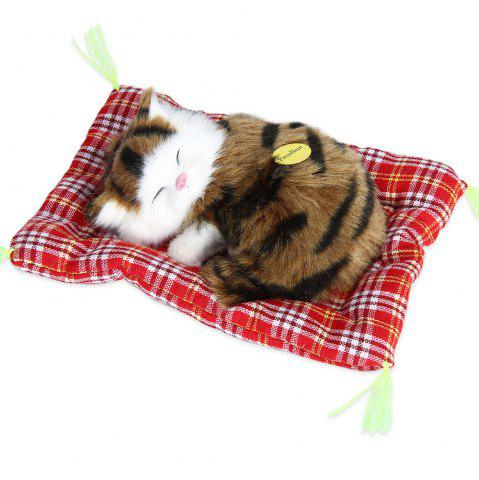 Chic Stuffed Lovely Simulation Animal Doll Plush Sleeping Cats Toy with Sound