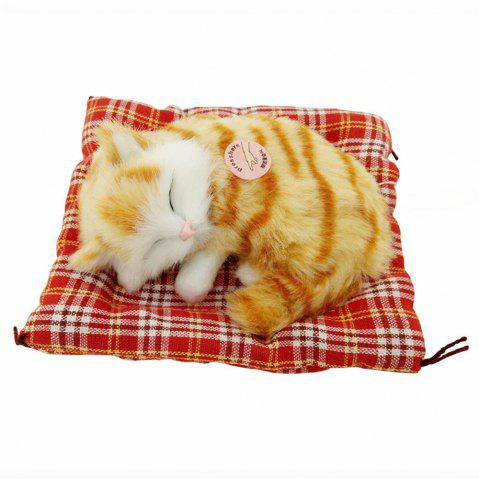 Fashion Stuffed Lovely Simulation Animal Doll Plush Sleeping Cats Toy with Sound