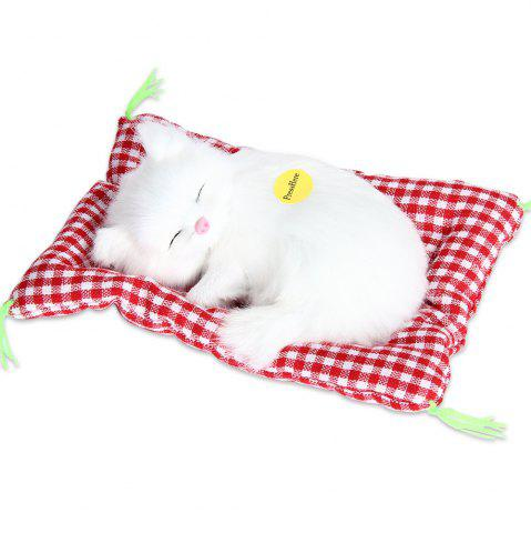 Outfit Stuffed Lovely Simulation Animal Doll Plush Sleeping Cats Toy with Sound