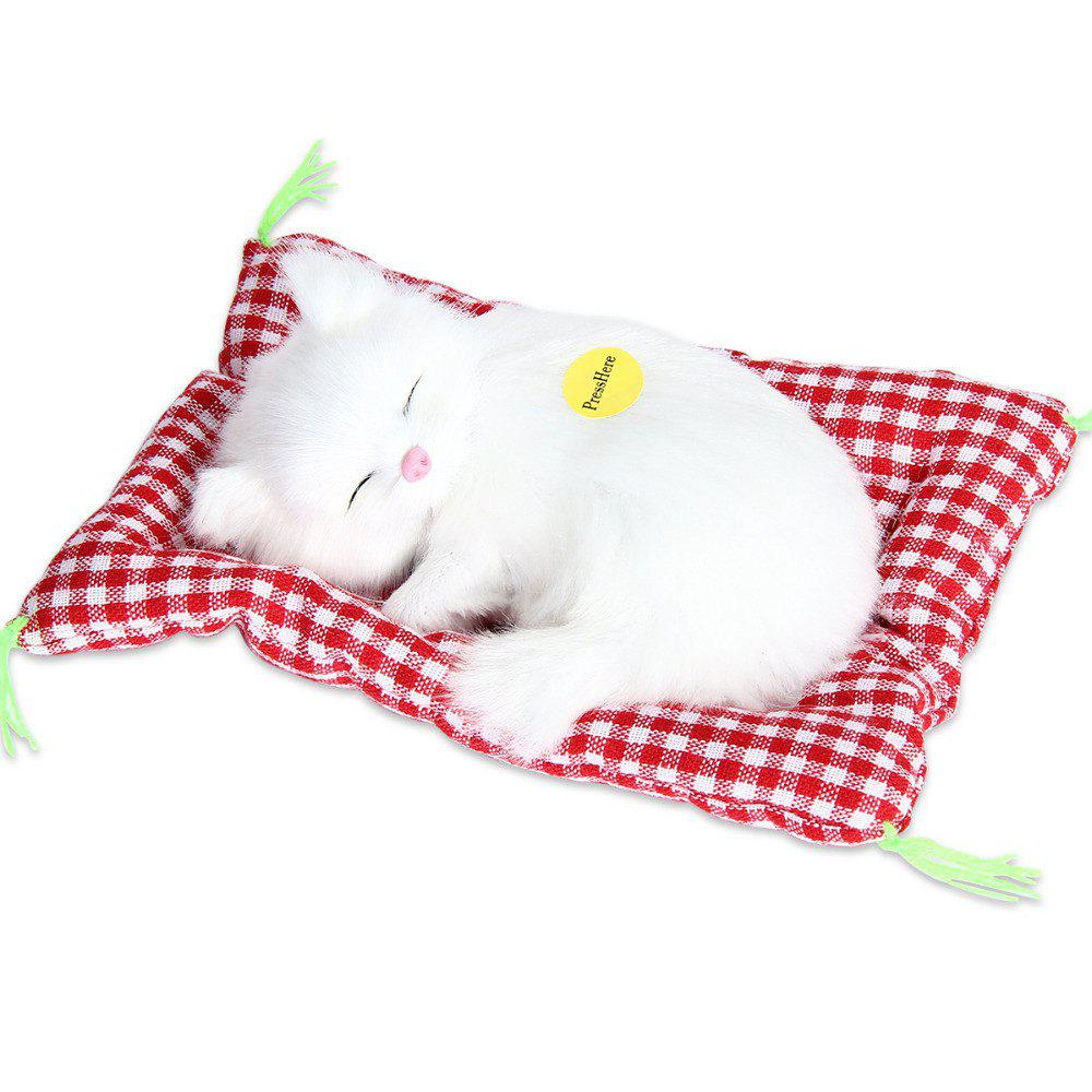 Stuffed Lovely Simulation Animal Doll Plush Sleeping Cats Toy with Sound 244409206