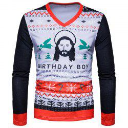New Men'S 3D Print Figures Long Sleeved T-Shirts TV05 -
