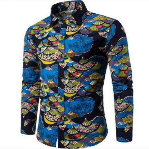 Discount Spring Young Men English Wind Long Sleeved Shirt CS1