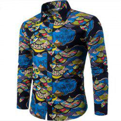 Spring Young Men English Wind Long Sleeved Shirt CS1 -