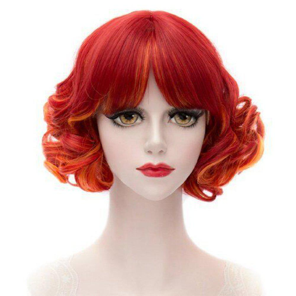 39% OFF Short Curly Cosplay Wigs For Women Girl Red ...