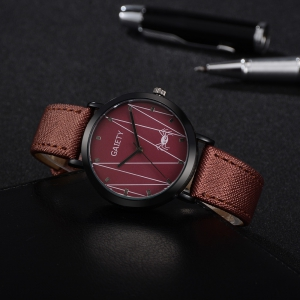 GAIETY G491 Leather Fashion Quartz Watch -