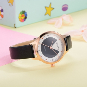 GAIETY G493 Ms. Candy Color Leather Watch -