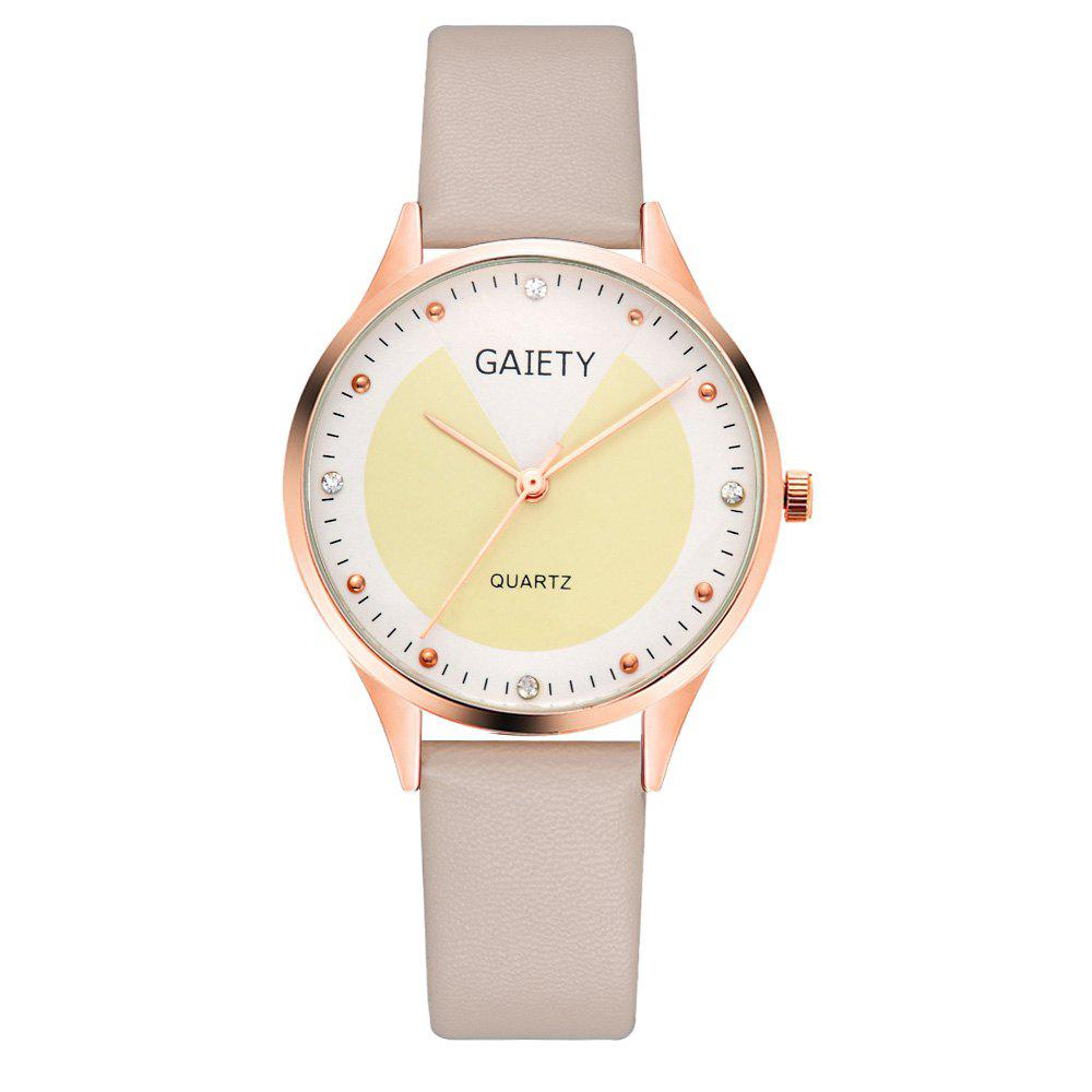 Buy GAIETY G493 Ms. Candy Color Leather Watch