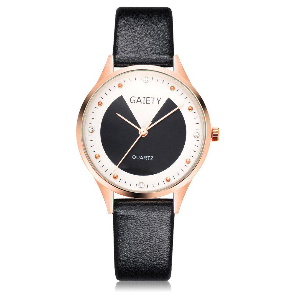 Fancy GAIETY G493 Ms. Candy Color Leather Watch