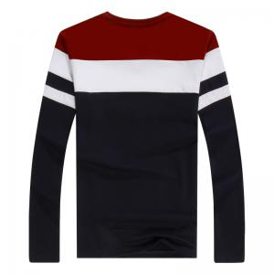 Men'S Spliced Long Sleeved T-Shirts -
