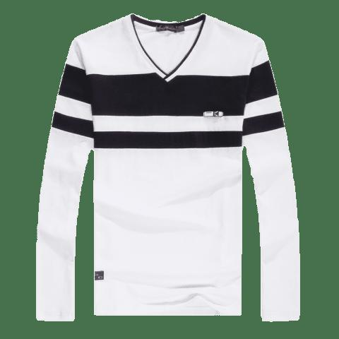 Fancy Men'S Spliced Long Sleeved T-Shirts