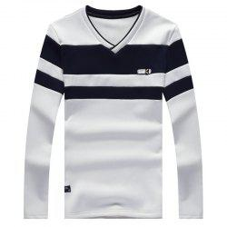 Male Cashmere Long Sleeved T-Shirts -
