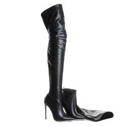 Women'S Shoes PU Fall Winter Fashion Boots Boots Stiletto Heel Pointed Toe Over The Knee Boots -